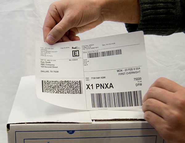 Fedex label Horizontal
